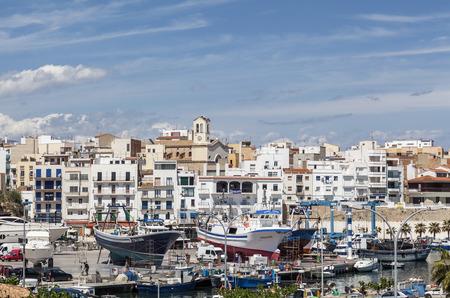 AMETLLA DE MAR,SPAIN-MAY 7,2012: View of the mediterranean village and fishing port of Ametlla de Mar, province Tarragona,Catalonia,Spain. Editorial