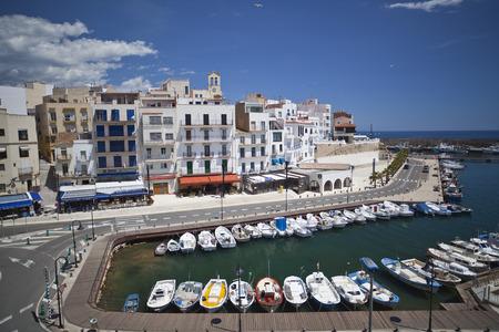 AMETLLA DE MAR, SPAIN-MAY 7,2012: Village and port view of Ametlla de Mar, catalan village of Costa Daurada.