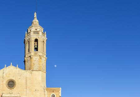 Church of Sant Bartomeu and Santa Tecla, Sitges, Catalonia,Spain.