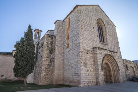 francesc: MONTBLANC,SPAIN-FEBRUARY 6,2012: Architecture, religious building, Church, Iglesia Sant Francesc, gothic style, medieval city of Montblanc, province Tarragona,Catalonia. Editorial