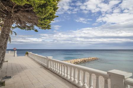 Maritime promenade view of Ametlla de Mar, catalan village of Costa Daurada.
