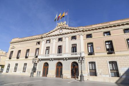 사블, 스페인 -2 월 22,2017 : 시청 building.Sabadell, 카탈로니아, 스페인. 스톡 콘텐츠 - 94092642