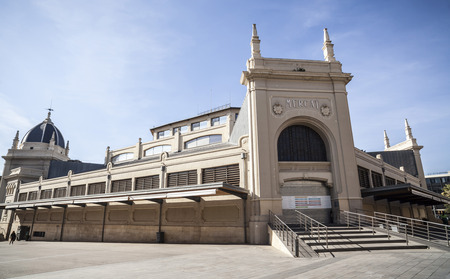 SABADELL,SPAIN-FEBRUARY 22,2017:Central market building. Sabadell,Catalonia,Spain. 에디토리얼
