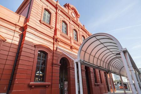 사블, 스페인 -2 월 22,2017 : 고 대 기차 역. Sabadell, 카탈로니아, 스페인입니다.