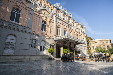 MURCIA,SPAIN-SEPTEMBER 21,2017:Theater,Teatro romea building,exterior main facade,Murcia,Spain. Stock Photo - 94092684