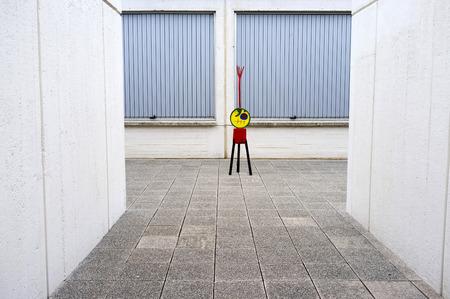 BARCELONA,SPAIN-MAY 18,2017:Exterior Joan Miro foundation,building by Josep Lluis Sert,park,parc montjuic,Barcelona.