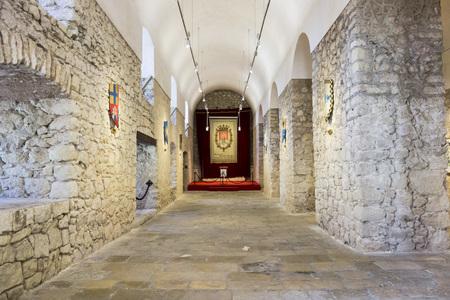 ALICANTE, SPAIN- JANUARY 18, 2018: Santa Barbara castle fortress, historic monument. Alicante, Spain. Editorial