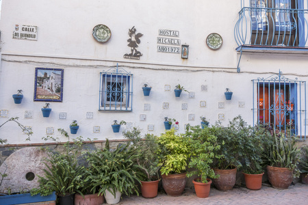 TORREMOLINOS, SPAIN- JANUARY 22,2018: Typical andalusian facade house in Torremolinos,Spain.