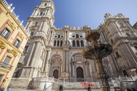 MALAGA, SPAIN- JANUARY 22,2018: Cathedral,historic center of Malaga, Spain.