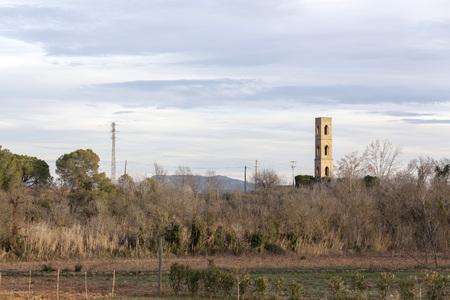 Landscape in Penedes wine area, Catalonia, Spain. Stock Photo