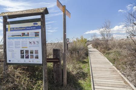 TORREDEMBARRA,SPAIN-MARCH 16,2018: Natural protected area Els Muntanyans in Torredembarra,Costa Dorada,Catalonia,Spain.
