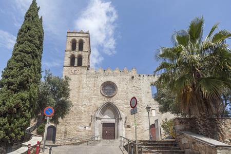 BLANES,SPAIN-MAY 8,2018: Gothic church of Santa Maria,Blanes,Catalonia. Editorial
