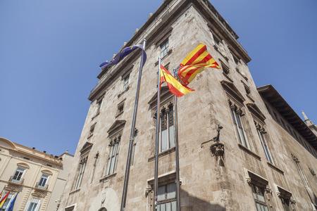 VALENCIA,SPAIN-MAY 9,2018: Generalitat palace, city center of Valencia.