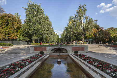 MADRID,SPAIN-JULY 23,2015: Public park, Parque del Buen Retiro,Madrid.