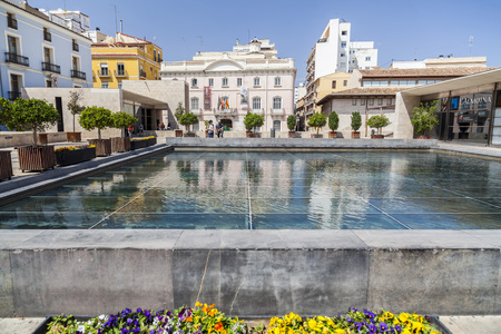 VALENCIA,SPAIN-MAY 9,2018: City center, square, plaza Almoina, Valencia. Editoriali