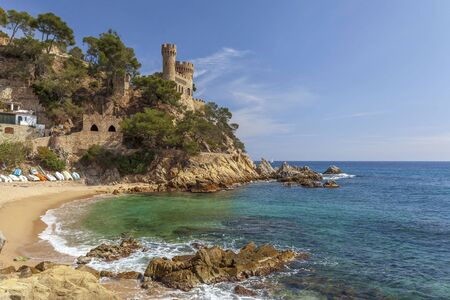 Sa Caleta beach in Lloret de Mar, Costa Brava, Catalonia, Spain.