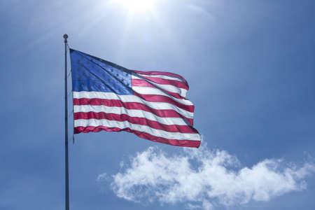 Flag, backlit