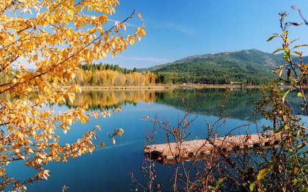Pend Oreille River with Fall Reflections