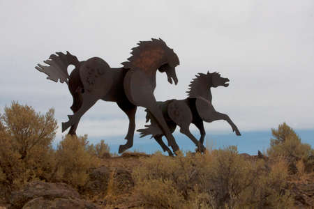 Wild Horse Monument Stock Photo - 23308426