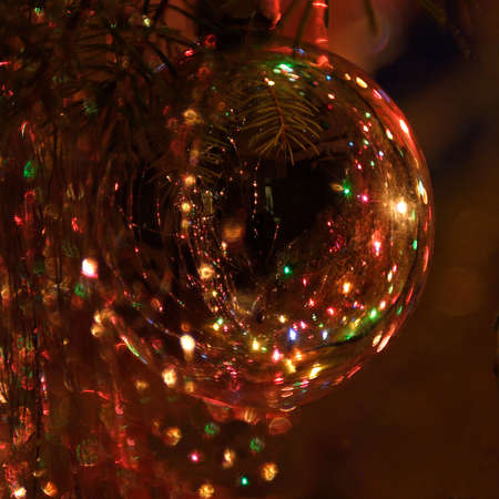 Christmas Ornament with Reflections Stock Photo - 23844629