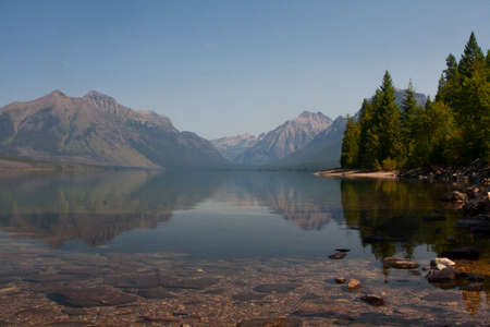 Pristine Lake in Glacier National Park Stock Photo - 23818933