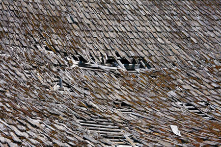 Weathered Roof Stock Photo - 23818928