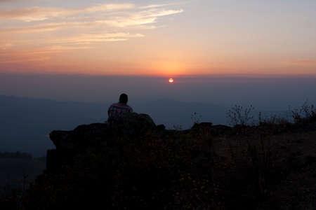 Watching the Sunset Stock Photo - 24263790