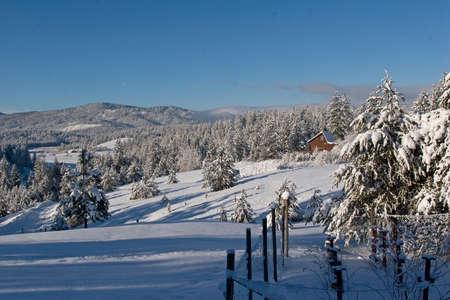 Cabin in Snow Stock Photo - 24263791