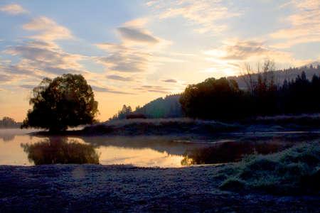 Peaceful Sunrise at the Lake