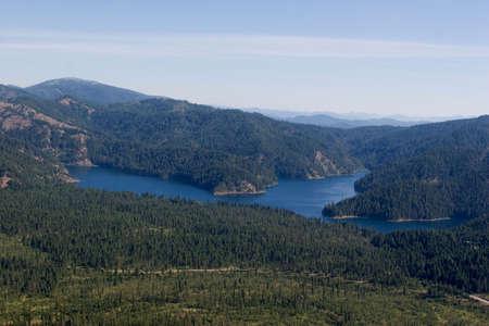 Bead Lake, Aerial Stock Photo