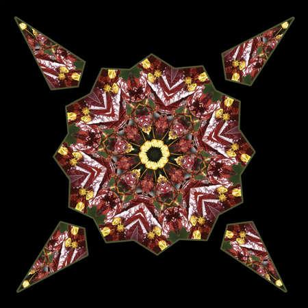 Maple Leaves Kaleidoscope Stock Photo