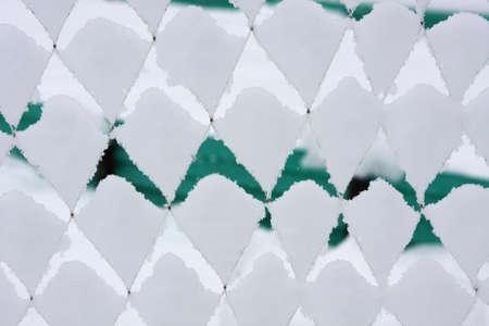 Snow Cones in Fence Stock Photo