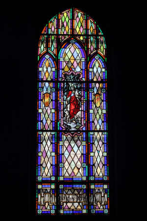 Stained Glass Window, Jesus with sheep