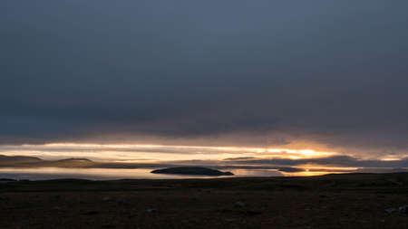 On the way to Gullfoss from Reykjavik in Iceland, a wonderful sunrise