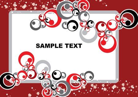 monotone circles mix white texture surrounding white box with maroon background Stock Vector - 3147121