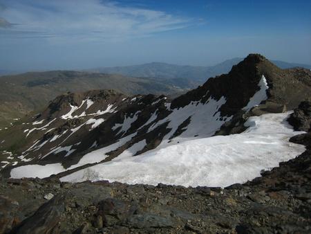 sierra snow: Snow Mountains at Top of Veleta Peak, in Sierra Nevada. GranadaGrenade. Spain