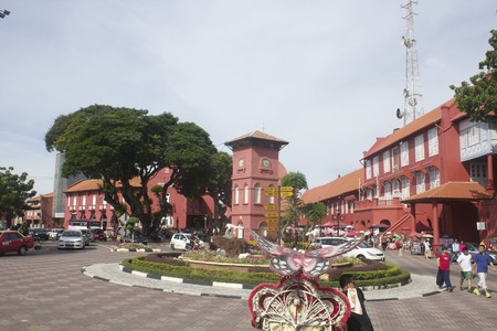 melacca: The Red Town: Melaka, Malaysia - July 2014 Editorial