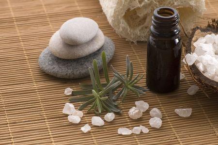 aromatherapy items. spa Stock Photo - 3383220