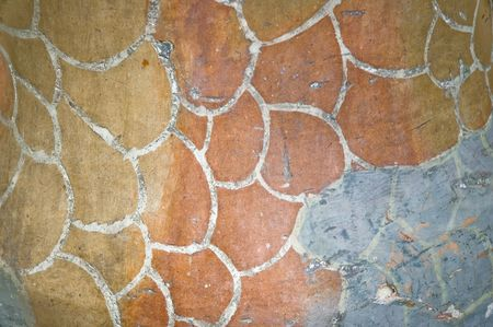 Detail of the ceramics from the Casa Batllo in Barcelona, Spain. Architect Antonio Gaudi photo