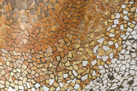 casa: Detail of the ceramics from the Casa Batllo in Barcelona, Spain. Architect Antonio Gaudi. Roof detail Stock Photo