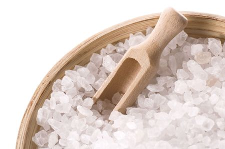 bath salt isolated on the white background. spa