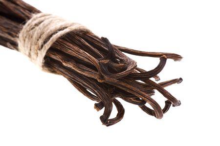 vanilla beans isolated on the white background Stock Photo