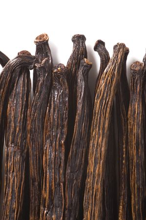 vanilla beans isolated on the white background photo