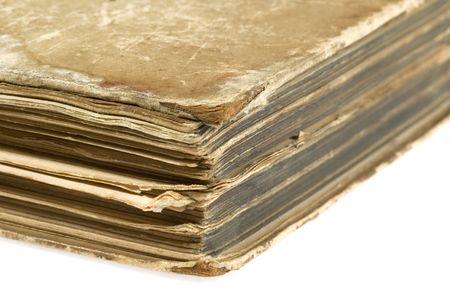 tooled leather: vecchio libro (1911) - dettaglio