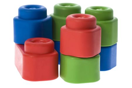 stack of colorful building blocks - no trademarks photo