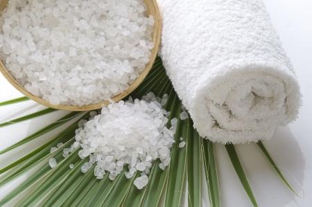 Badesalz und die Palm-leaf