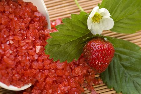Spa composition with strawberry Stock Photo - 5689133