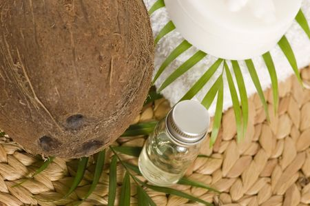 Coconut oil for alternative therapy photo
