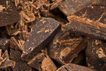 chocolate slice: Chopped chocolate Stock Photo