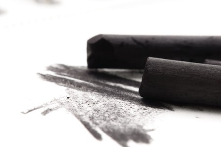 whitern: Artists black charcoal with smudge